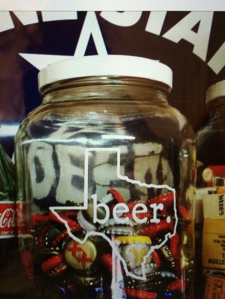 Man Cave El Paso : Cricut vinyl idea project texas beer man cave ideas