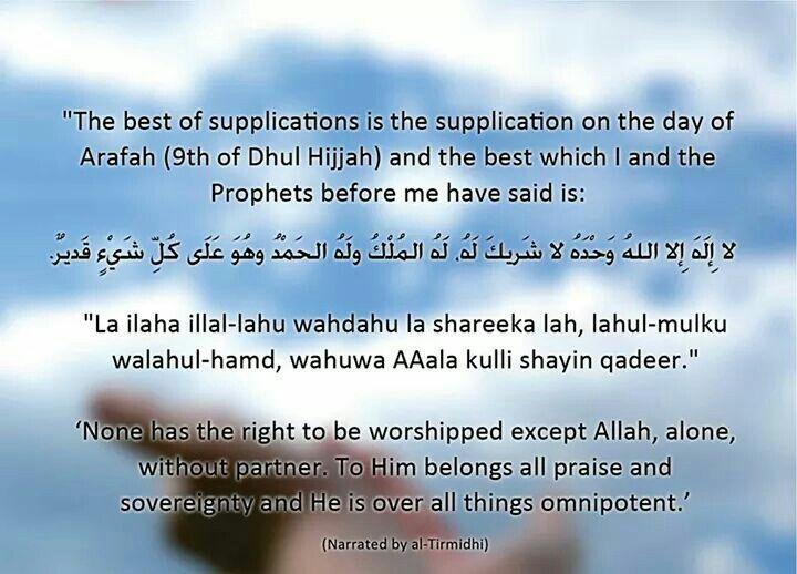 Doa hari arafah selain dr puasa sunat pd hari arafah 9 zulhijjah