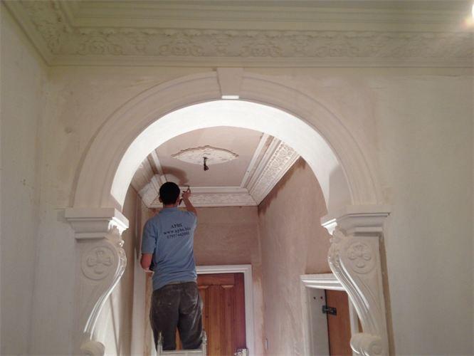 Image result for plaster corbel arch