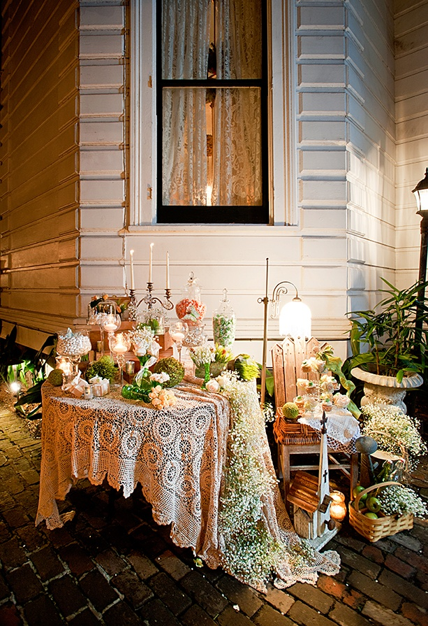 Tablescapes in Bloom | Babysbreath | Oscar Rajo | Elegance by ACE | NOLA-Flora | Firefly Ambiance Candles & Decor | Exquisite Event | Sugarcoat It by Graceful Event Productions | The Sweet Life Bakery | Fabulous Cake Stands by Nola B | Event Rental |  http://www.neworleansweddingsmagazine.com/2013/4/Tablescape-in-Bloom---Baby-s-Breath-61.aspx