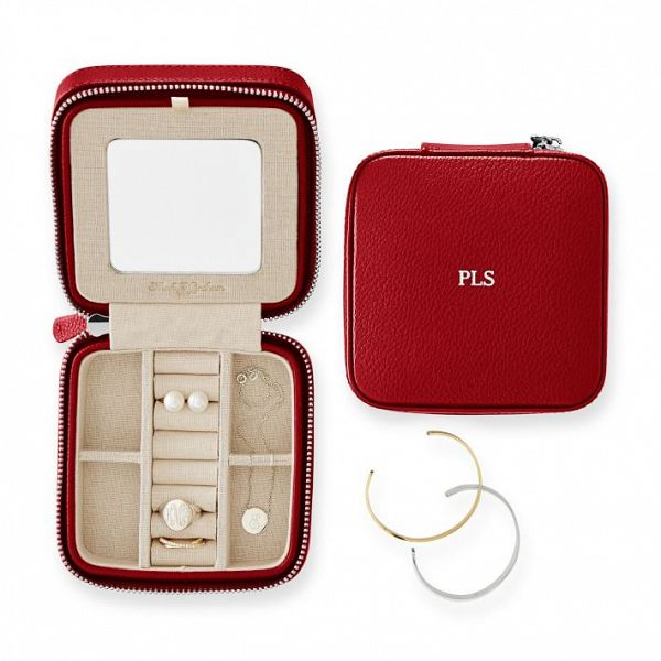 Holiday Gift Ideas for Couples - ad - Monogrammed Travel Jewelry Case
