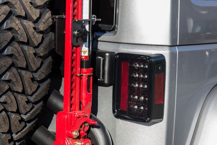 Recon 264234BK Smoked Jeep Wrangler JK LED Tail Lights Shown on 2014 Rubicon $399
