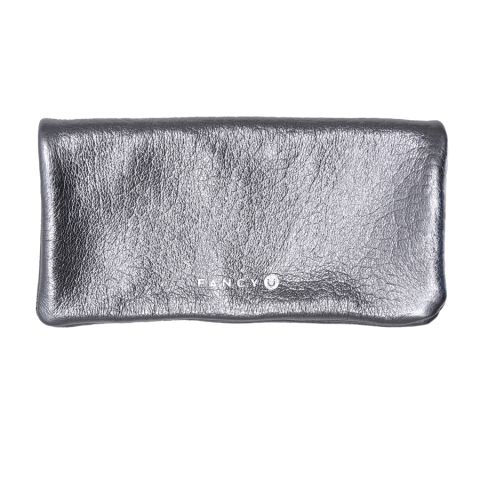 Fancy Party Clutch  (silver) A simple clutch made of soft, fleshy leather  Original complement for smaller and bigger parties. In the front it has our gold embossed logo, inside, zipper pocket closed that will accommodate your favorite lip gloss and a cell phone. Closed with magnetic lock. It goes perfectly with both casual outfit or elegant dress. http://en.fancyu.pl/