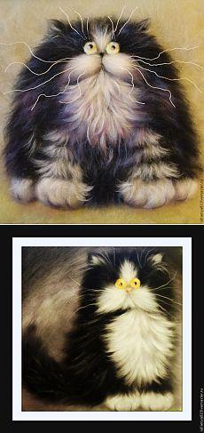 Рисуем кота по мотивам картин Ким Хаскинс