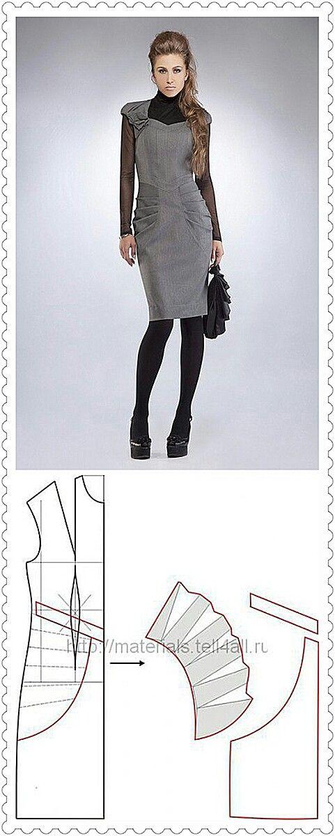 Pleated pencil dress pattern