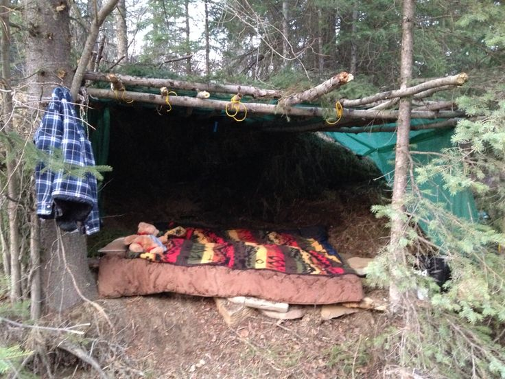 Wilderness camping without tent diy