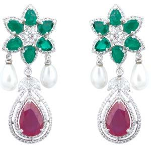 Grab the bestest deal which is never seen before the brand new classic floral drop earrings from sonals jewellery.Thease design are very unique for more detail visit our site.
