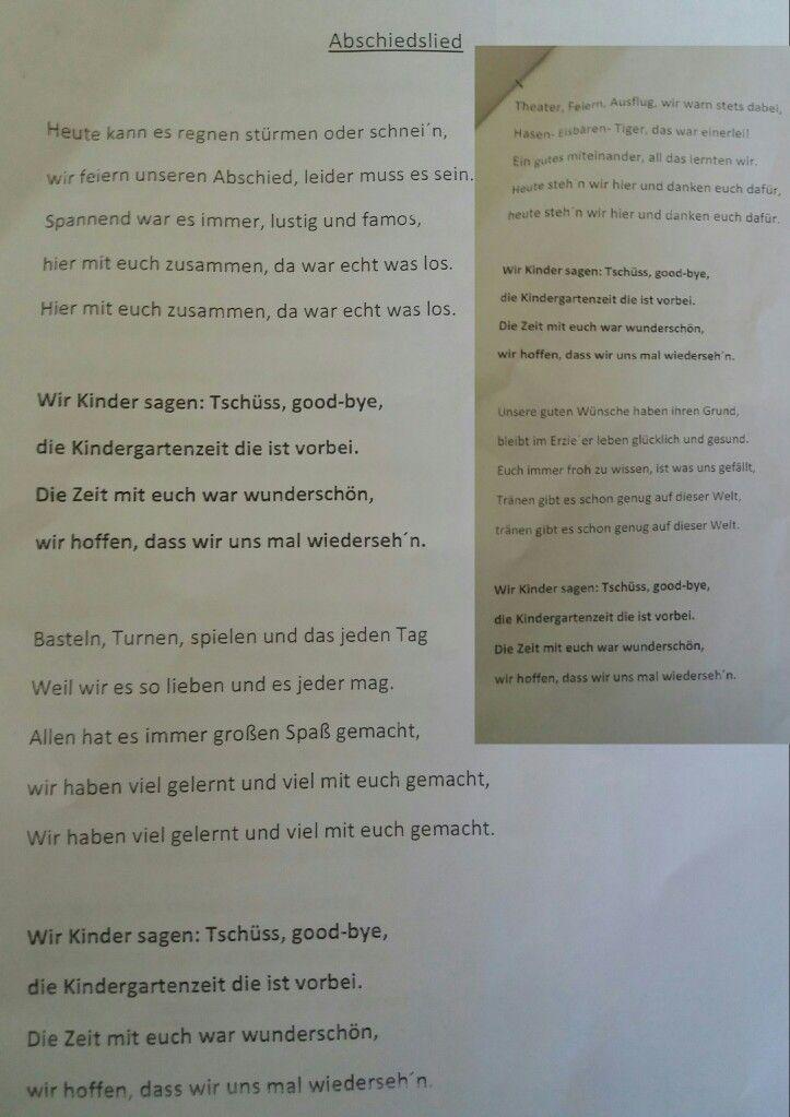 Abschiedslied Elternbeirat Mit Vorschulkindern Juli 2018 Wirklich Total Suss Abschiedslied Gedichte Zum Schulanfang Vorschullieder