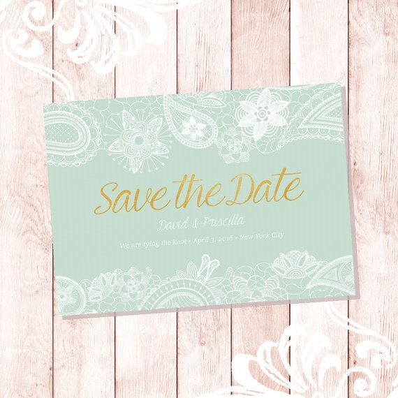 Customized Save The Date Card  PRINTABLE by DutchLadyPrintables