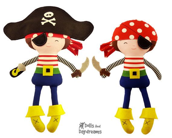Pirate Sewing PDF Pattern Digital Instant by DollsAndDaydreams