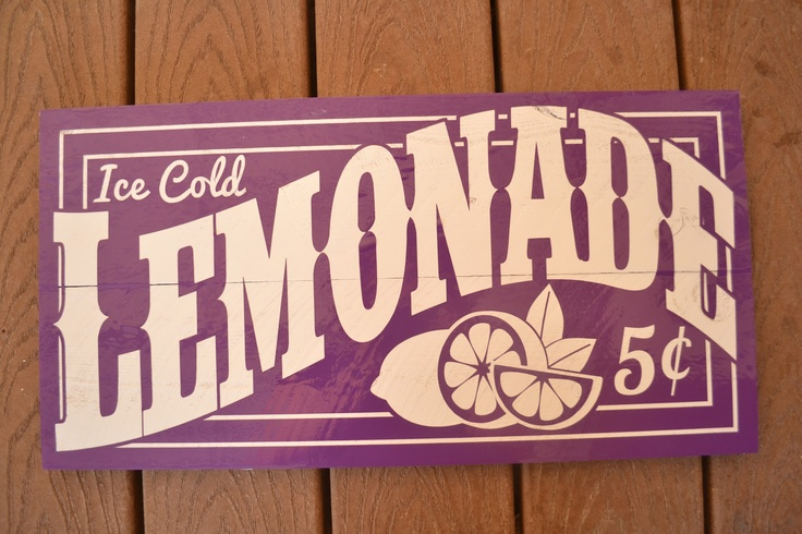 Old-Fashioned Lemonade Sign
