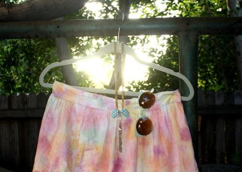 New Dress A Day - DIY - Watercolor Dye Skirt - GAP skirt