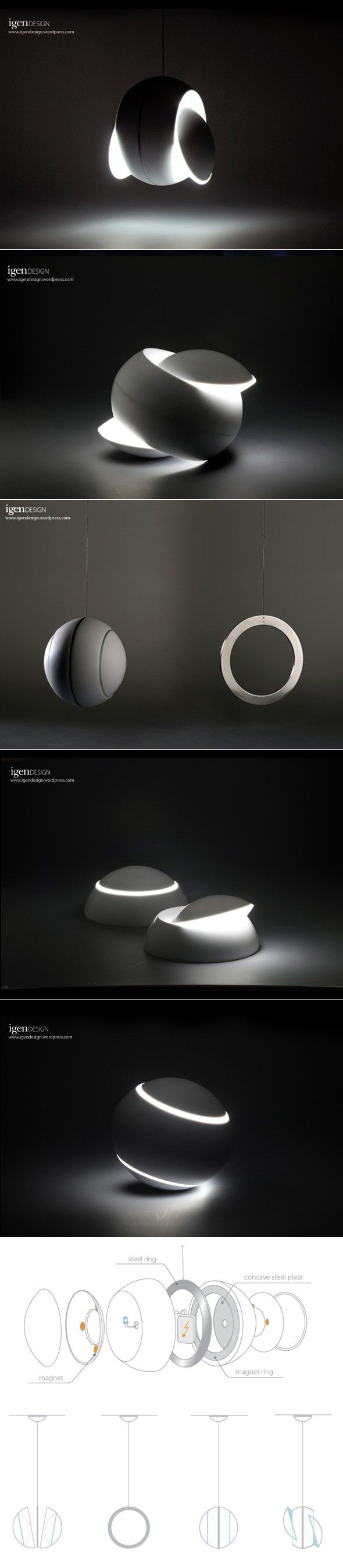 "Lamp ""Nissyoku"" – flexible shine 