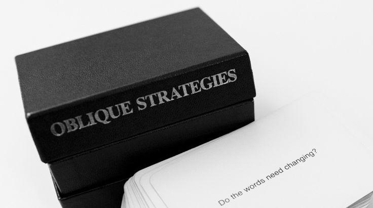 Strategie oblique: un mazzo di carte contro i blocchi creativi - Roba ...
