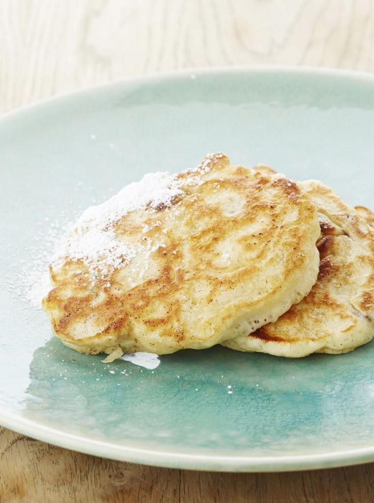 Ontbijtkoekjes met rozijnen en appels