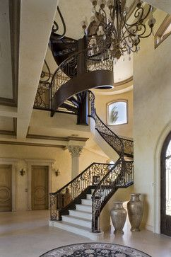 Custom spiral staircase traditional staircase