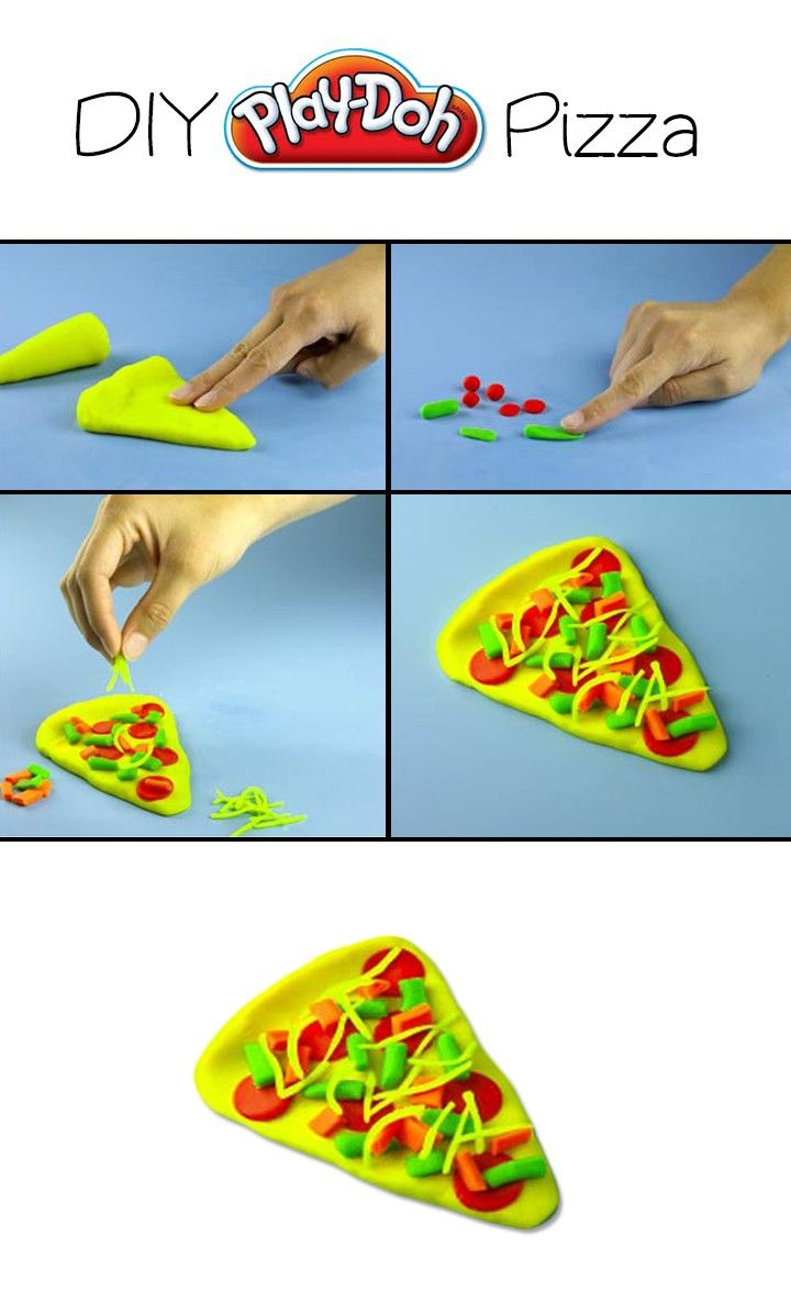 Easy to create DIY Play-Doh Pizza