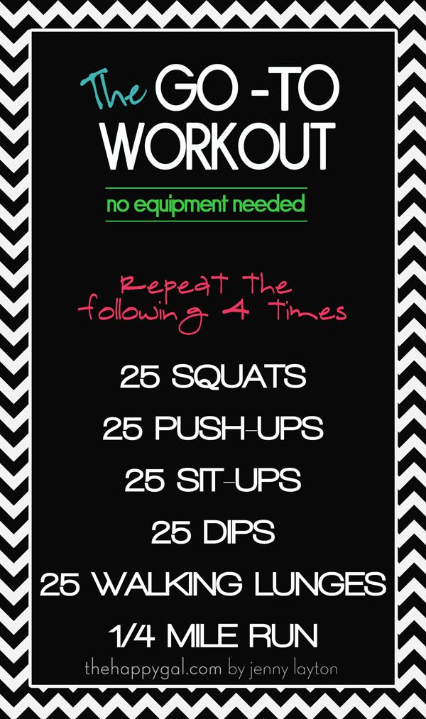 The Go-to Workout -- great workout you can do at home to help balance  all those yummy holiday treats