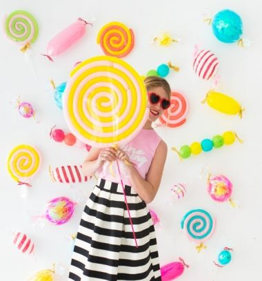 DIY Balloon candy - fun birthday party backdrop ( birthday decor) // Lufi cukorka és nyalóka - szülinapi buli lufi dekoráció // Mindy - craft tutorial collection // #crafts #DIY #craftTutorial #tutorial