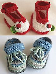 New Crochet Accessory Patterns - Cute Crochet Baby Shoes