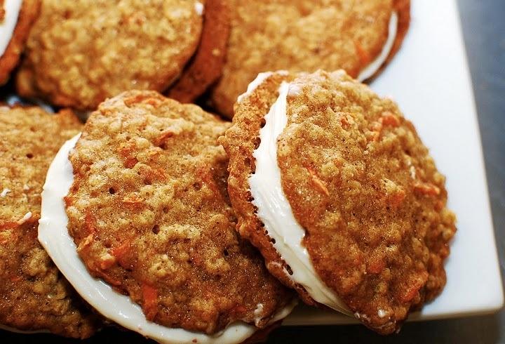 Ek carrot cake sandwich cookies carrot cake sandwich