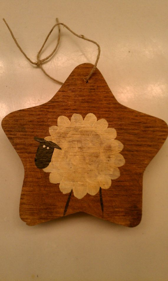 8 best images about sheep crafts on pinterest minis for Sheep christmas ornament craft