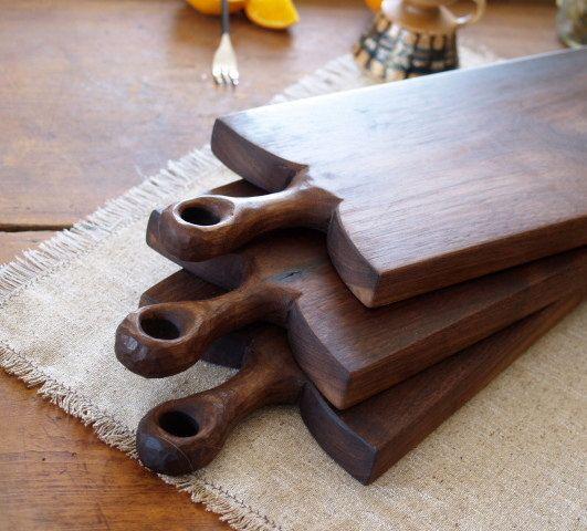 Walnut Rustic Serving Board - Wood Breadboard - Cutting Board - Wood Kitchenwares- Wedding Gift