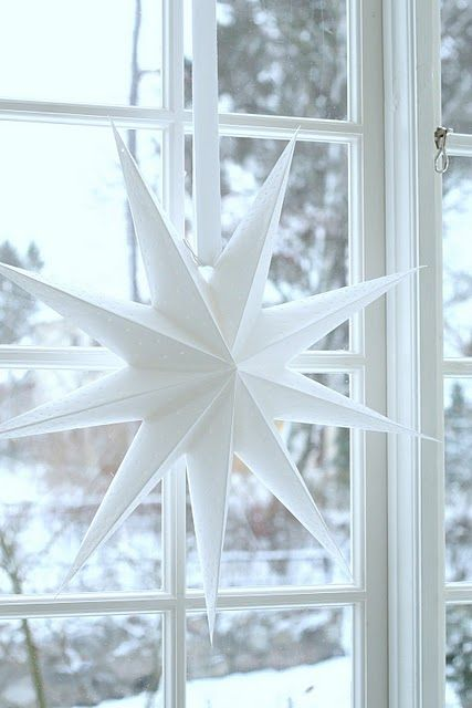 Beautiful star - I always hand one of these up at home at Christmas
