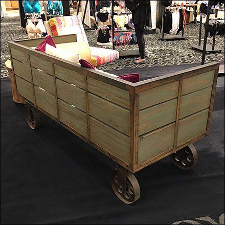 Vintage Transport Cart As Retail Amenity