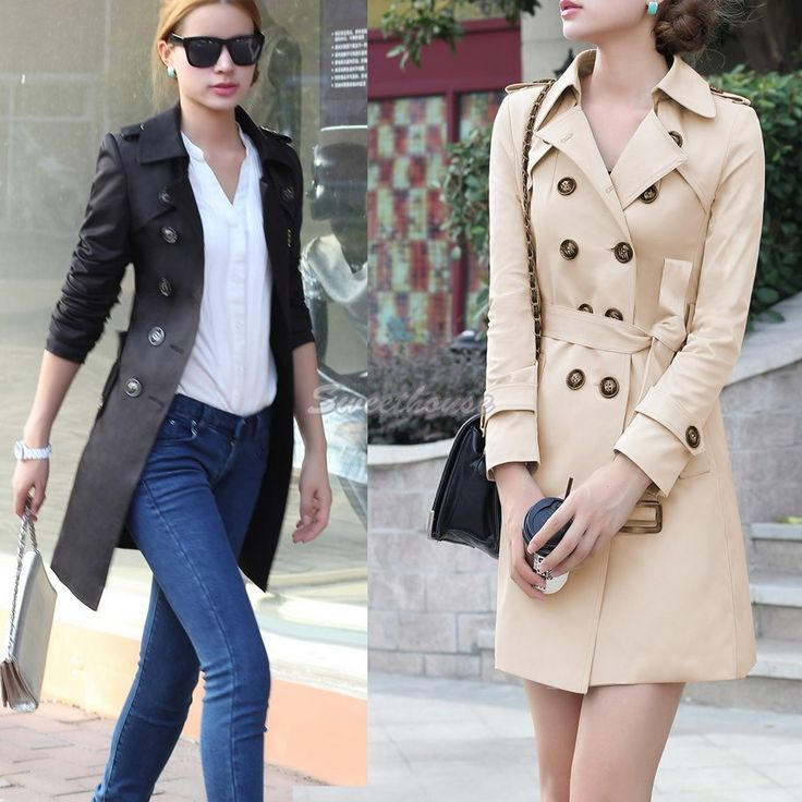 casacos femininos new  women coat new fashion women's slim Polyester coat winter coat women trench coat SV14 CB030533 alishoppbrasil