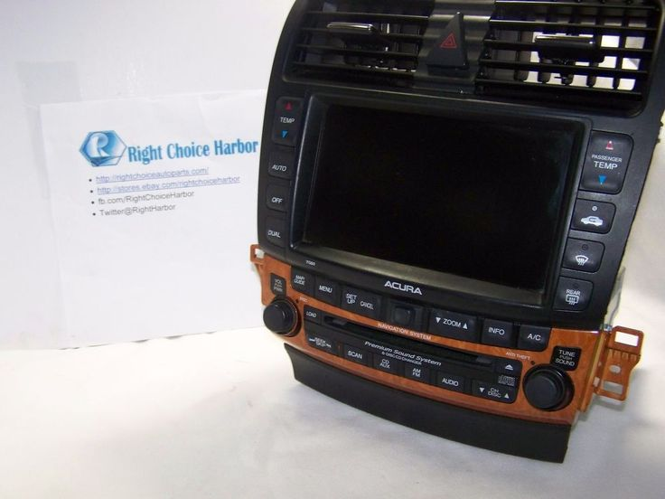 04-08 Acura TSX Navigation GPS Screen Climate Control Radio 39175-SEC-A820-M1 #Acura rightchoiceautoparts.com