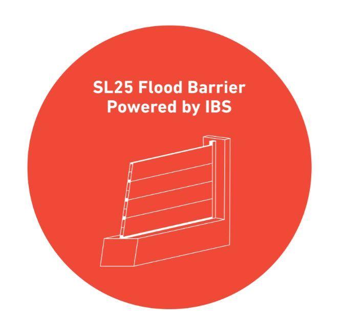 SL25 lightweight #floodbarrier from IBS