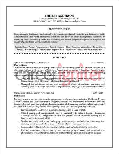 professional nursing resume templates