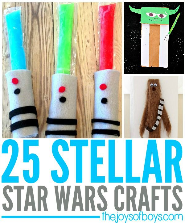 Everywhere you turn, people are talking about Star Wars.  These Star Wars Crafts are definitely out of this world!