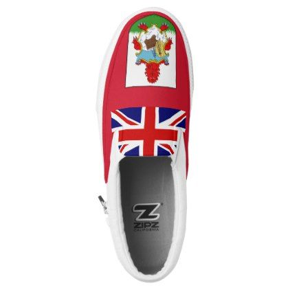 Bermuda Flag Slip-On Sneakers  $79.90  by GrooveMaster  - cyo diy customize personalize unique
