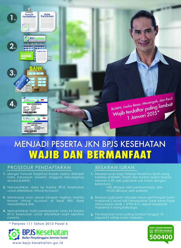 Poster BPJS Kesehatan untuk Pekerja Penerima Upah (PPU)