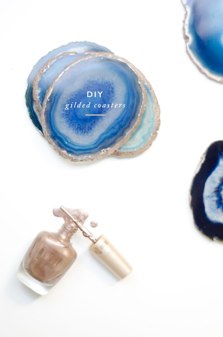 DIY Gilded Agate Coasters from Thou Swell http://thouswell.co/