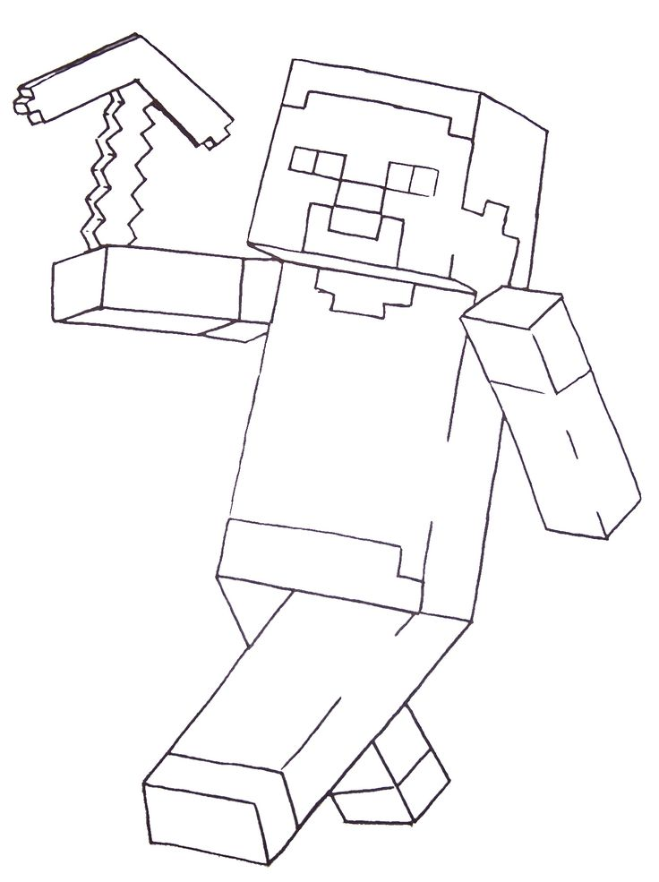 Minecraft Steve Coloring Pages Printable Minecraft