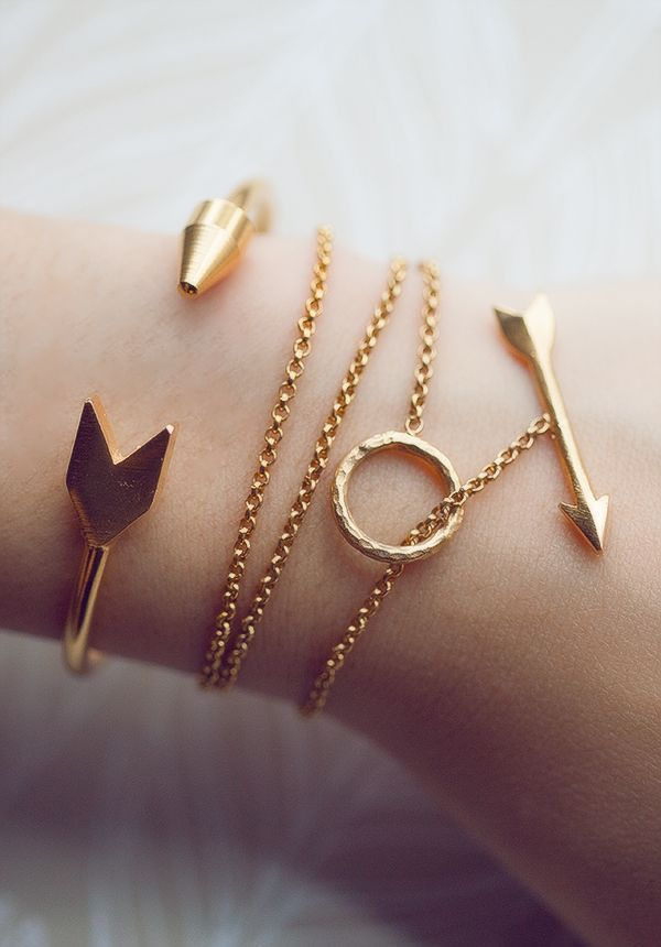 Tendance Bracelets  Tiklari  Tendance & idée Bracelets 2016/2017 Description Bracelets  Or  flèches