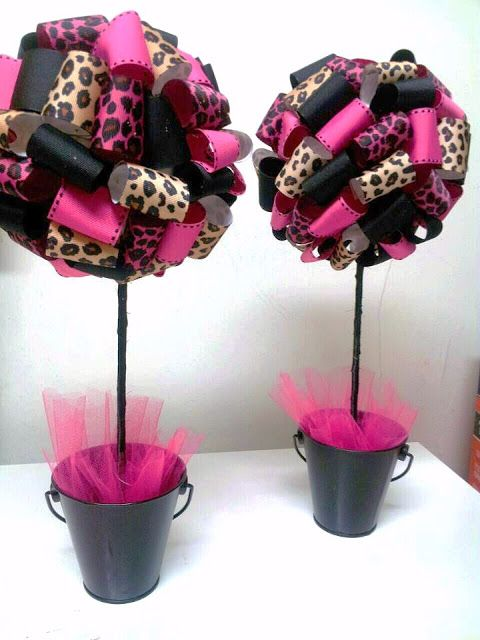 Black And Pink Baby Shower Part - 40: Black And Pink Glamor Baby Shower Centerpiesces | Adrianau0027s Creations: BABY  SHOWER THEME CENTERPIECES