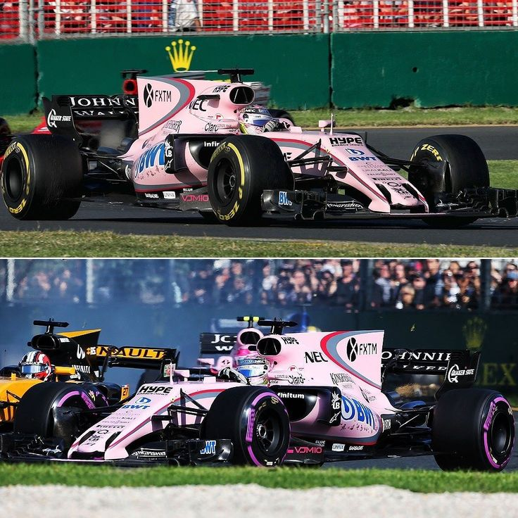 Sahara Force India VJM10 2017: carros rosa têm bom dia na F1 Inusitada cor dos modelos da @forceindiaf1 chamou atenção no Grande Prêmio da Austrália primeira etapa na competição. O mexicano Sérgio Perez chegou em sétimo enquanto o jovem francês Esteban Ocon em 10º ambos na zona de pontuação. O rosa é fruto da parceria com o patrocinador BWT uma empresa austríaca especializada em tecnologia de água. Não é a primeira vez que um carro da F1 usa rosa; em Em 1992 a Brabham já utilizou a cor na…