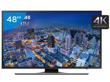 """Smart TV LED 48"""" Samsung 4k/Ultra HD Gamer - UN48JU6500 Wi-Fi 4 HDMI 3 USB"""