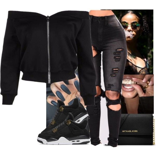 A fashion look from October 2017 by kmalia featuring MICHAEL Michael Kors and NIKE