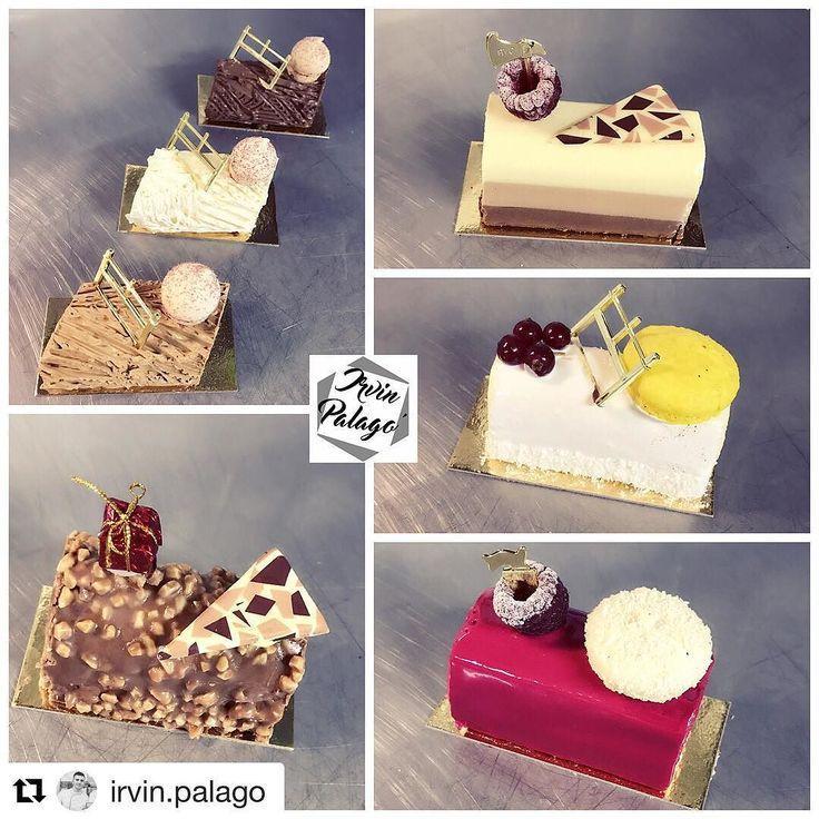 #Repost @irvin.palago (@get_repost)  Les bûchettes de Noël #noel #patisserie #pastrylove #pastry #buchette #coco #passion #framboise #rocher #chocolat #noel2017 #bakelikeaproyoutube