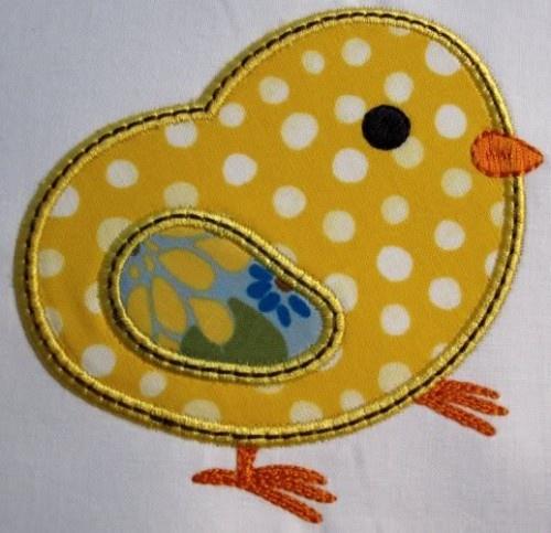 Cute little applique baby chick