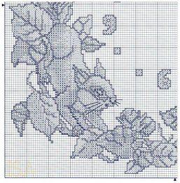 Cross Stitch Clock - Squirrels - 3 of 4