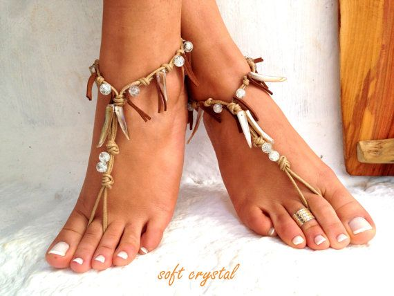 Barefoot sandals. wedding sandals.  boho barefoot by SoftCrystal, $23.00