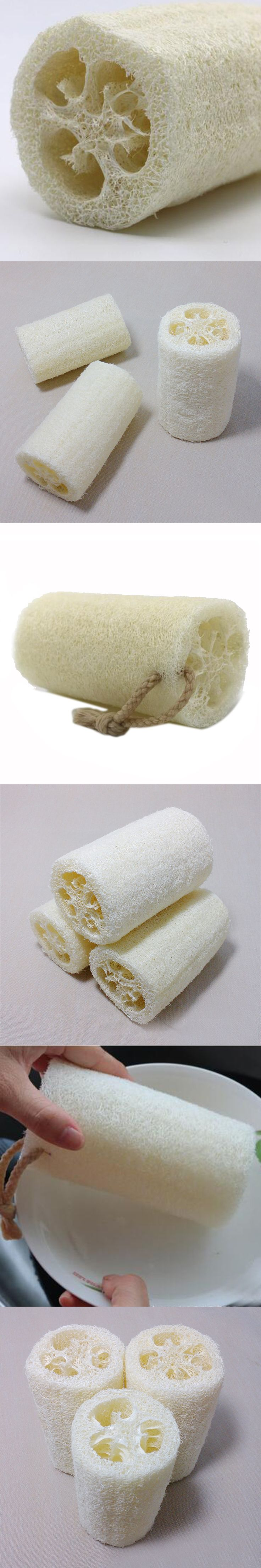 1 pc Natural Loofa Bath Shower Spa Cleans Loofah Sponge Body Scrubber Horniness Remover Luffa Body Bowl Pot Washing