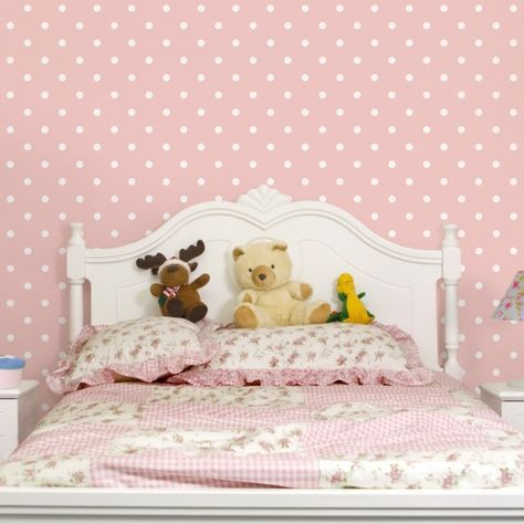 Awesome Kinderzimmer Tapeten Vliestapeten Premium No YK Wei e Punkte auf Rosa Fototapete Quadrat