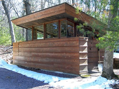 Utility Shed at Seth Peterson Cottage, by Frank Lloyd Wright 20090312 4164